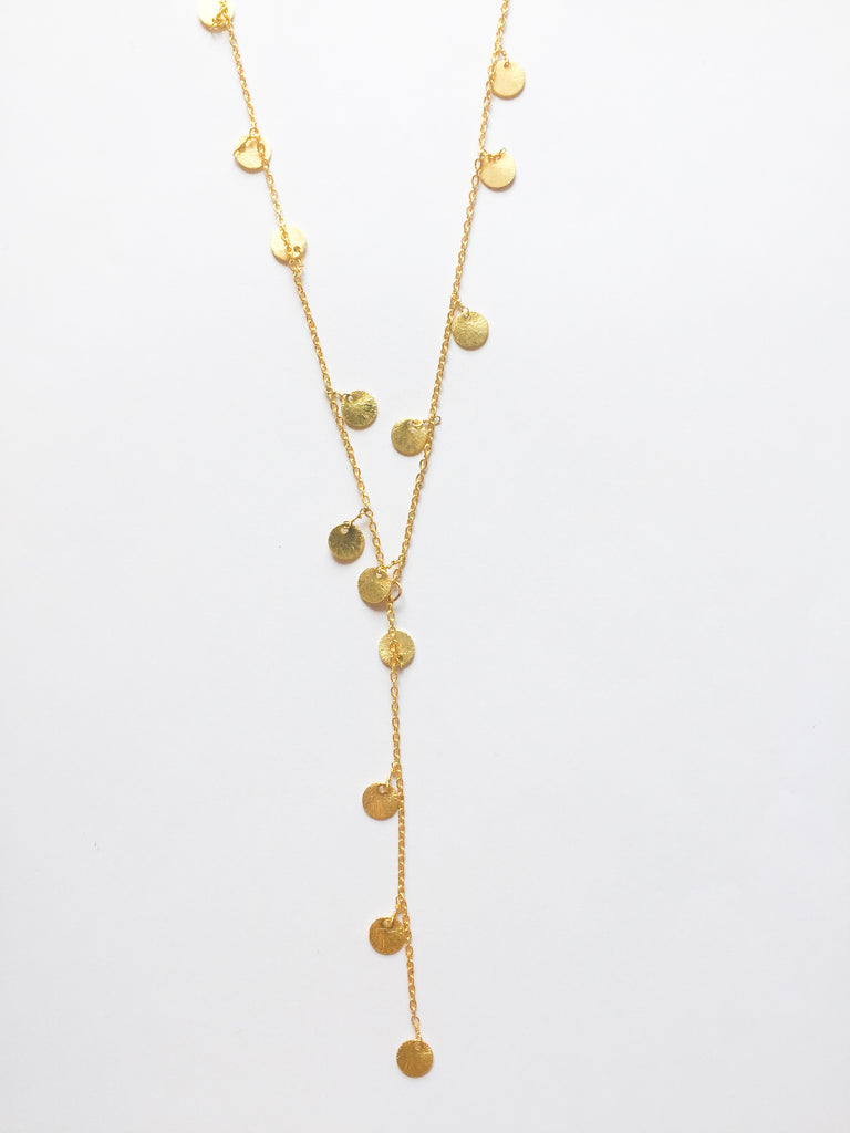 Gold Dottie Droplet Necklace - Modish Boutique