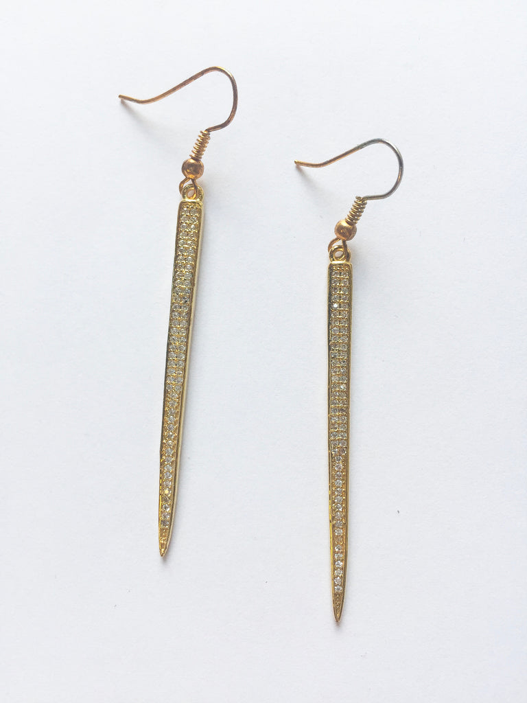 Gold Razor Earrings - Modish Boutique