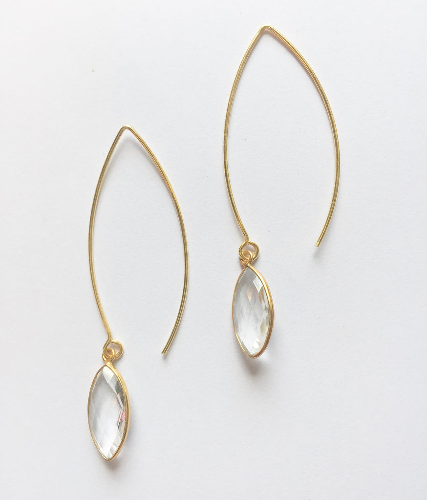 Clear Crystal Earrings - Modish Boutique