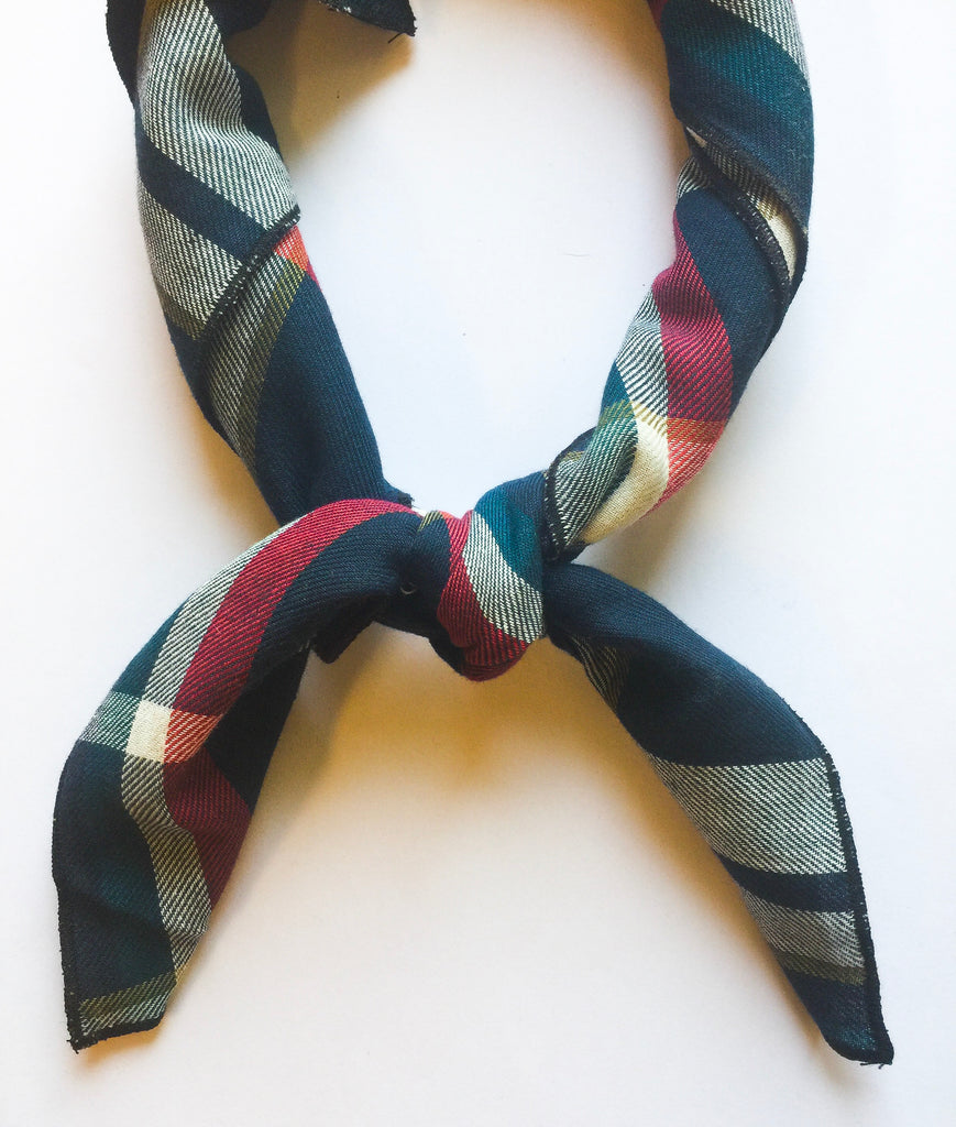 Blue/Red Plaid Scarf - Modish Boutique