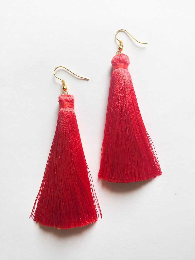 Red Tassels - Modish Boutique