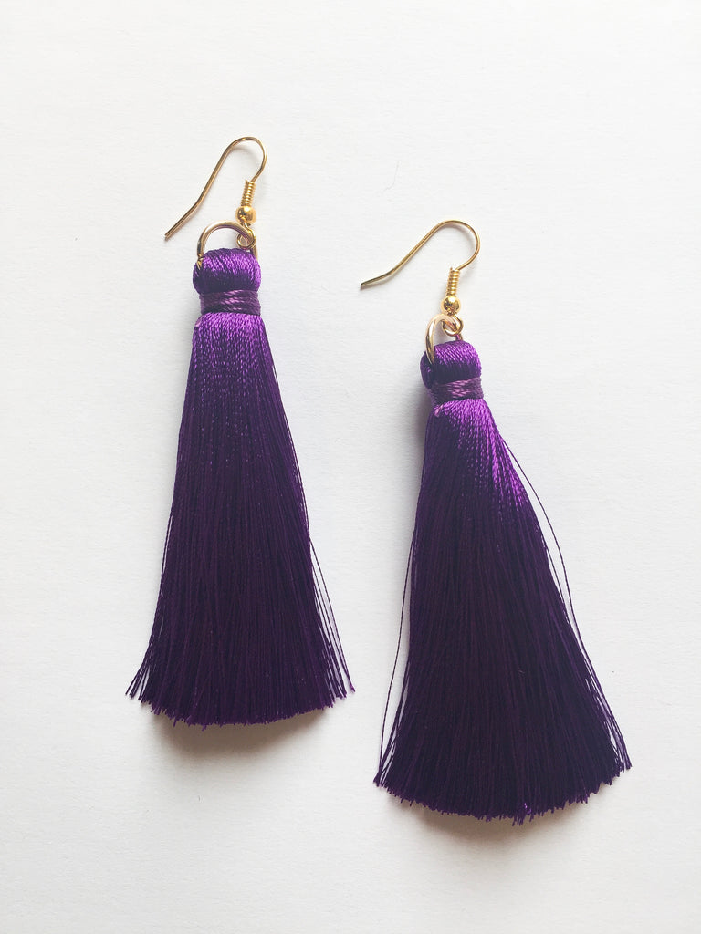 Purple Tassels - Modish Boutique