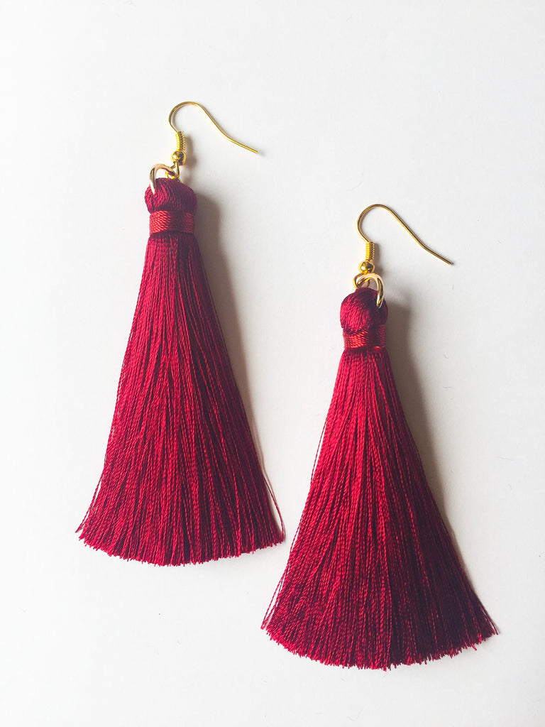 Maroon Tassels - Modish Boutique