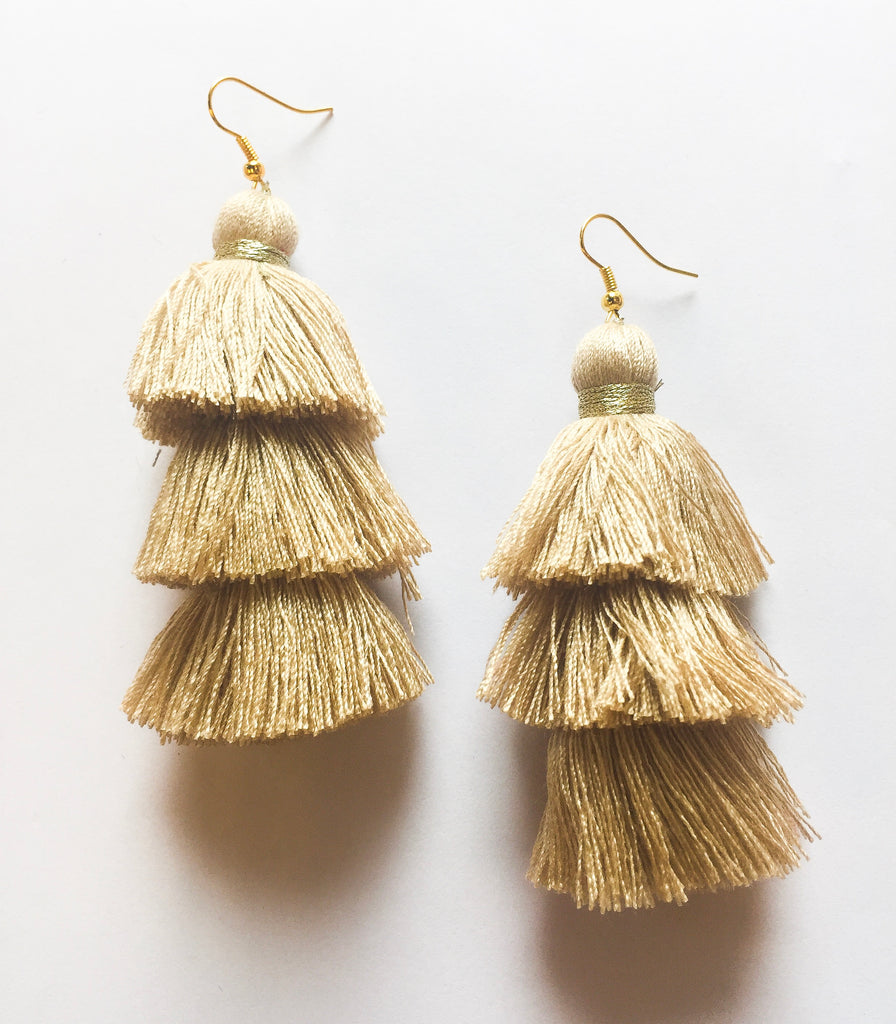 Tan Tiered Tassels - Modish Boutique