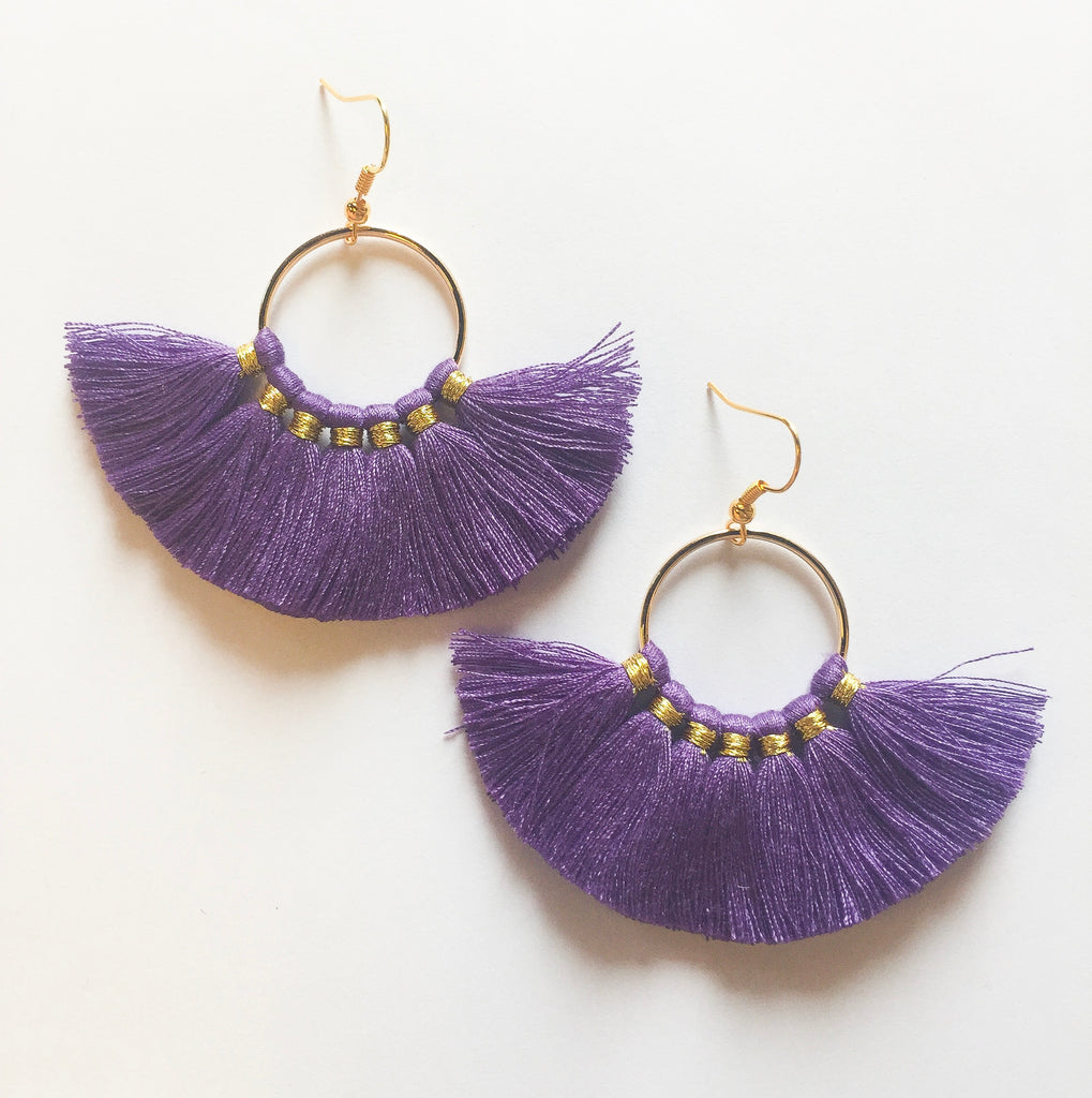 Lavender Circle Tassels - Modish Boutique