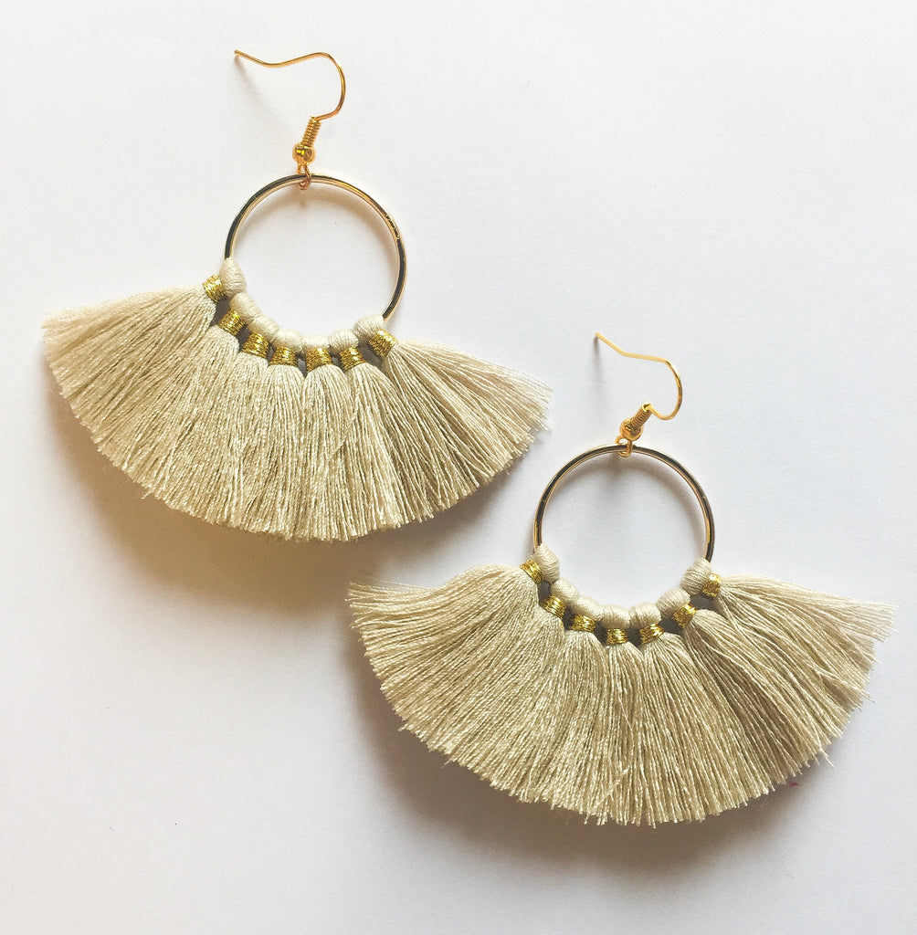 Tan Circle Tassels - Modish Boutique