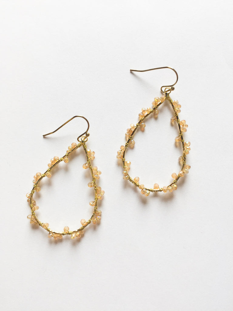Gold Beaded Earrings - Modish Boutique