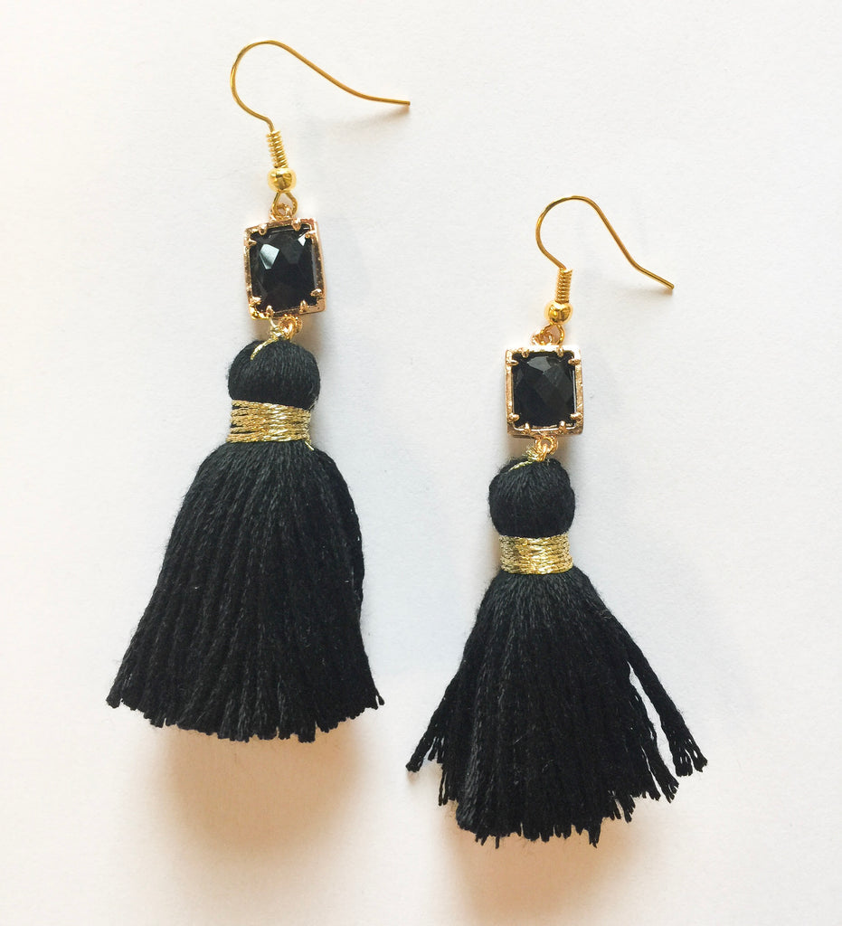 Mini Black Tassels - Modish Boutique