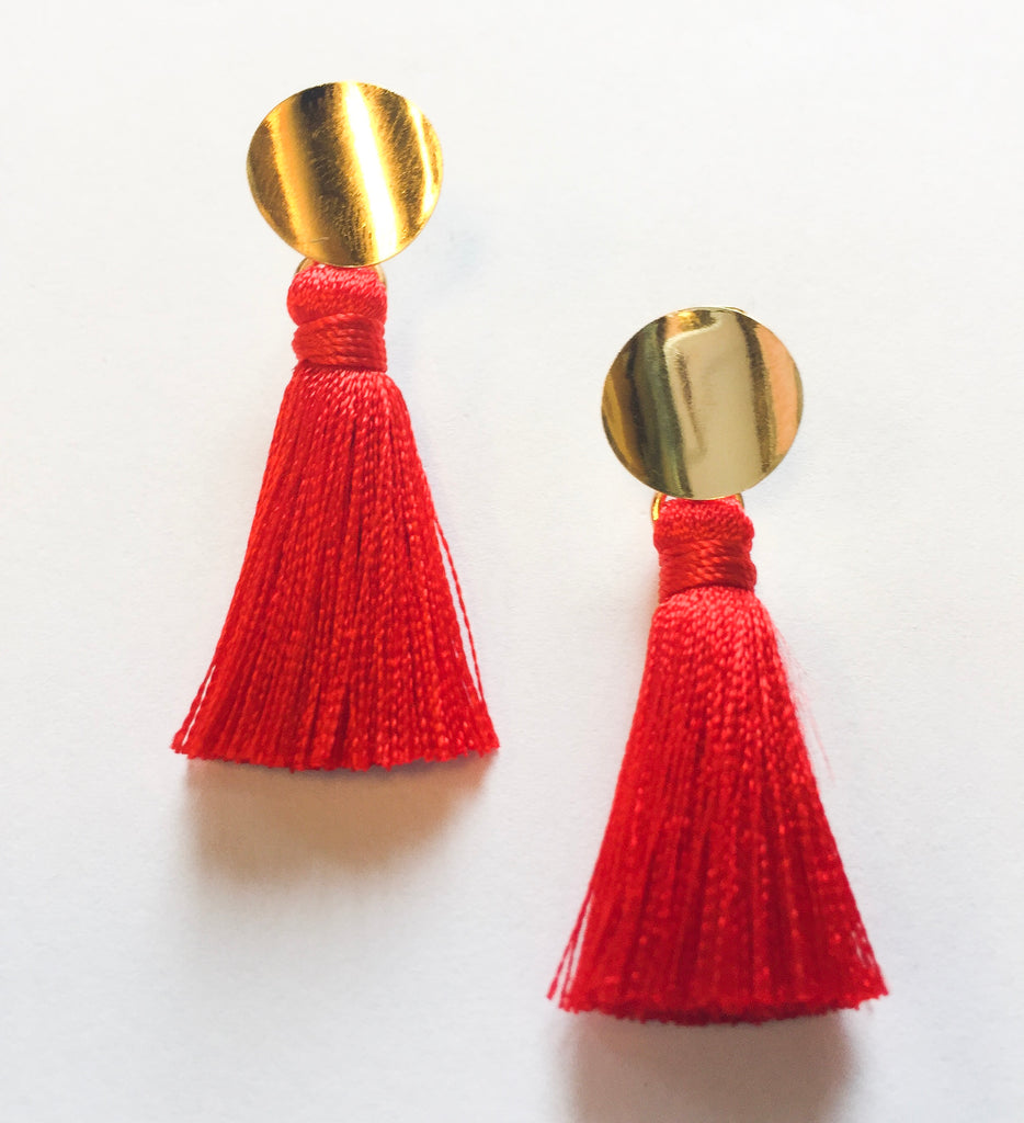 Red Nicole Tassels - Modish Boutique