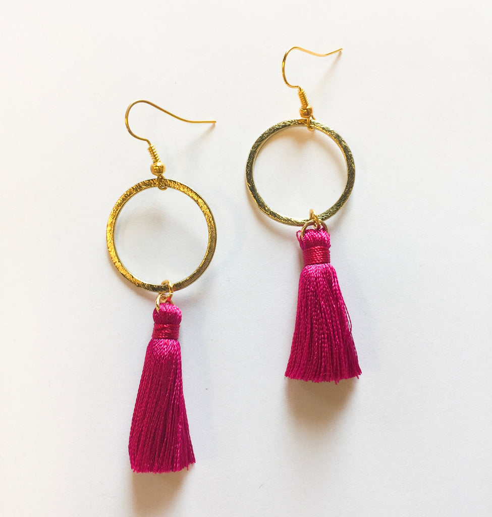 Pink Mia Earrings - Modish Boutique