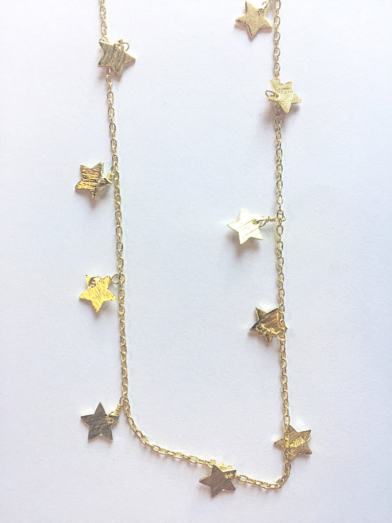 Gold Star Dangle Choker - Modish Boutique