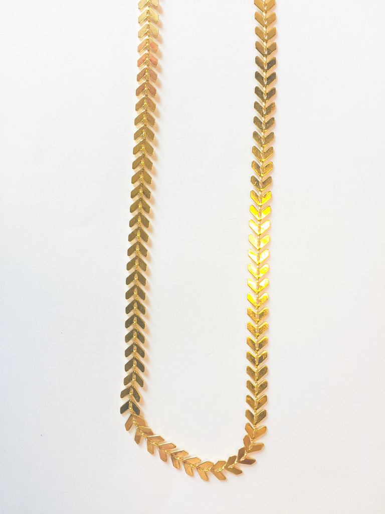 Gold Scale Chain Choker - Modish Boutique