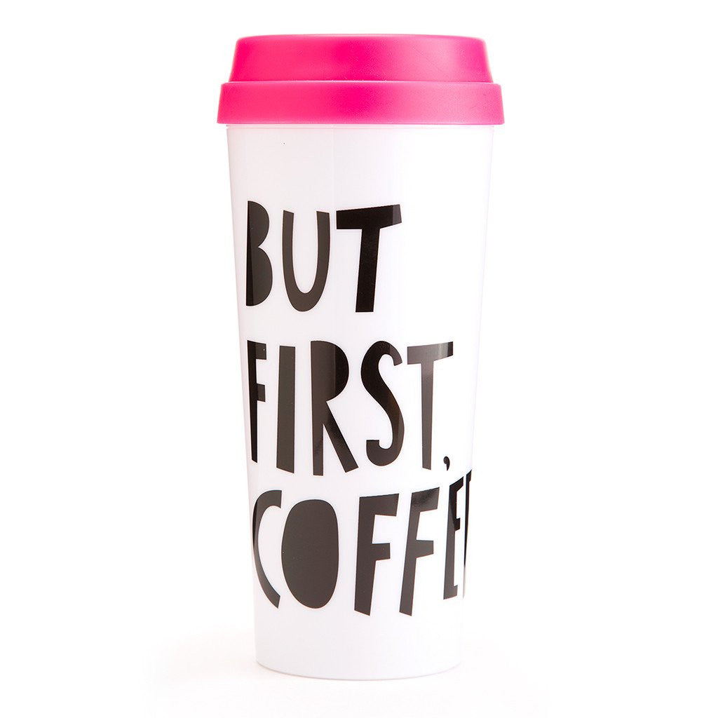 But First Coffee Pink Thermal Mug - Modish Boutique