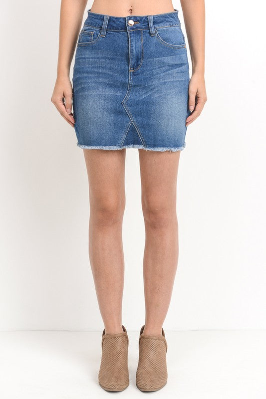 Medium Wash Denim Skirt - Modish Boutique