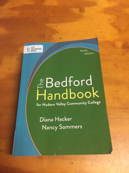 BEDFORD HANDBOOK FOR HUDSON VALLEY COMMUNITY COLLEGE