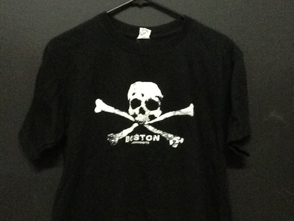 CROSS BONES GRAPHIC-T-SHIRT-BOSTON-MA-BLACK