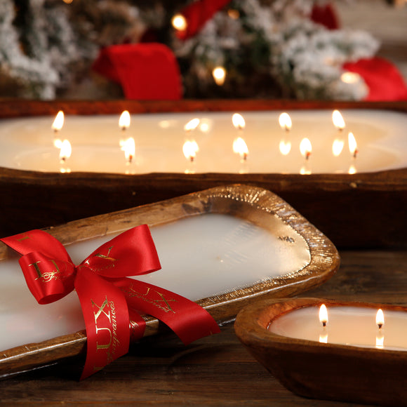 Holiday Dough Bowl Candles