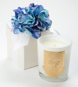 Spring - Blue Hydrangea Candle - 14oz. flower box candle (Case of 6)
