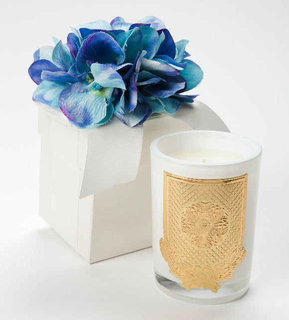 Spring - Blue Hydrangea Candle - 08oz. flower box candle  (Case of 6)