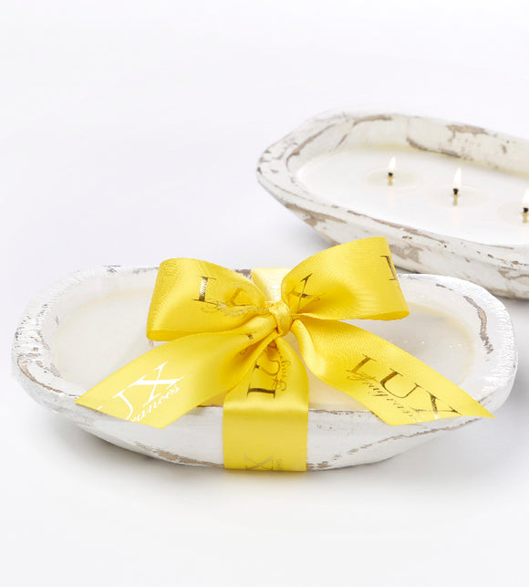 Lemon Drop - Dough Bowl (white) 3 Wick Candle (case of 4)