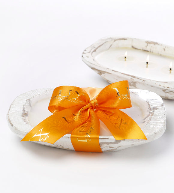 Orange Vanilla - Dough Bowl (white) 3 Wick Candle (case of 4)