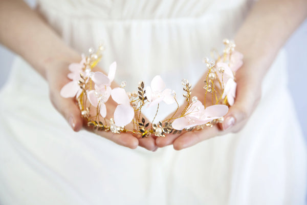 Bridal Pink Flower Wreath