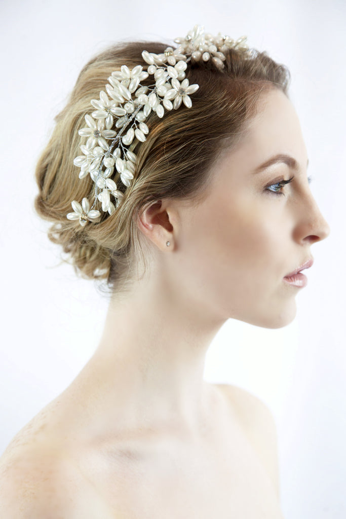 Bridal Greek Pearl Wreath