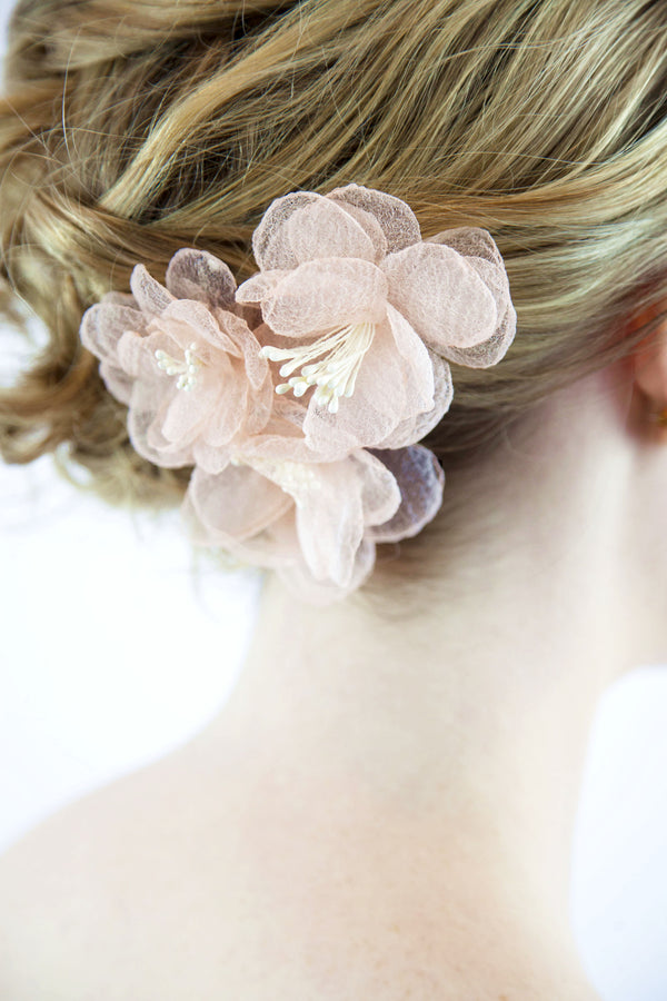 Bridal Dry Flower Hair Clips x 3