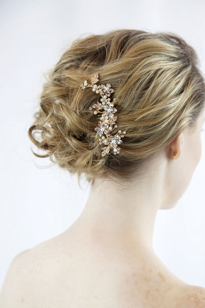 Bridal Gold Hair Comb (ComGo01)