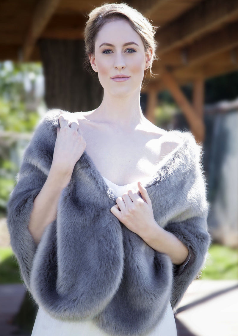 Gray Fur Wrap (Butterly Gry04)