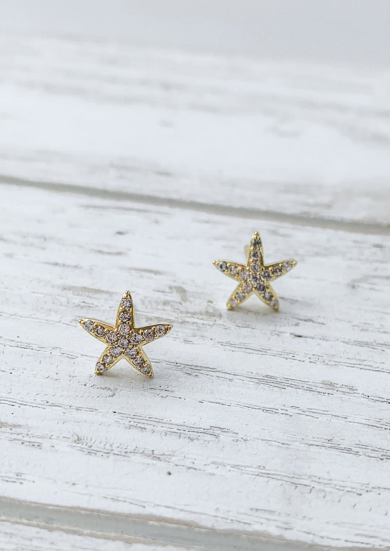 14k gold plated / Silver Tiny Gold Star Studs Earrings / Bridal Party Gifts