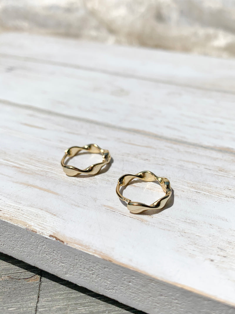 14k gold plated / Silver Tiny Hoop Earrings / Bridal Party Gifts