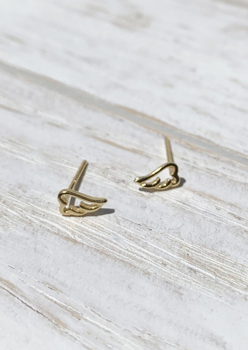 14k gold plated Wings Tiny Earrings / Bridal Party Gifts