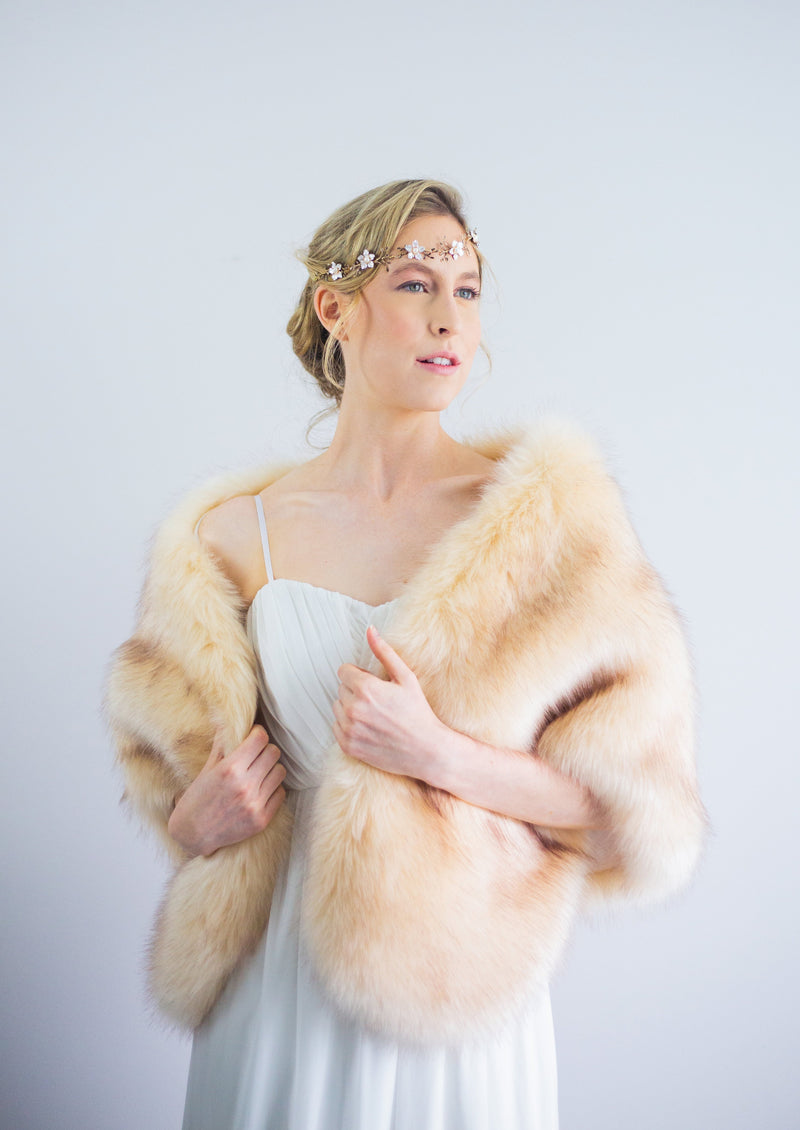 Champagne Fur Shawl (Butterfly Cha03)