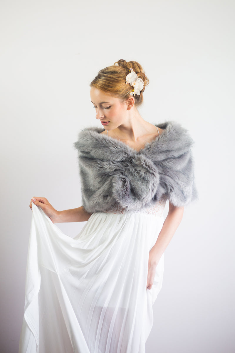 Gray Fur Wrap (Blair Gry04)