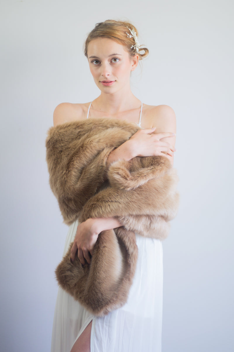Brown Fur Shawl