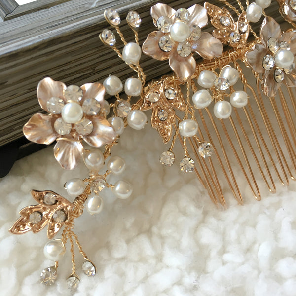 Gold Bridal Hair Comb