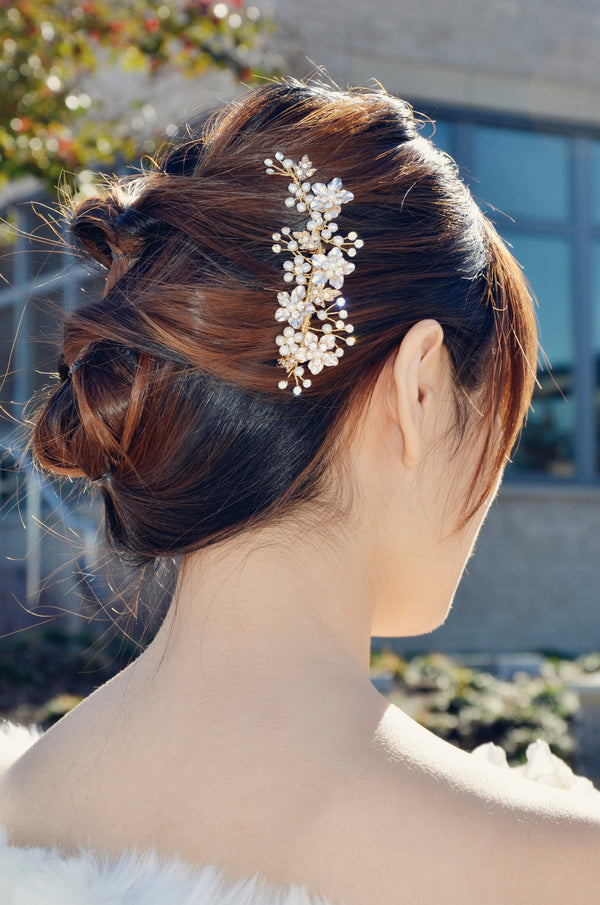 Gold Bridal Hair Comb (ComGo01)