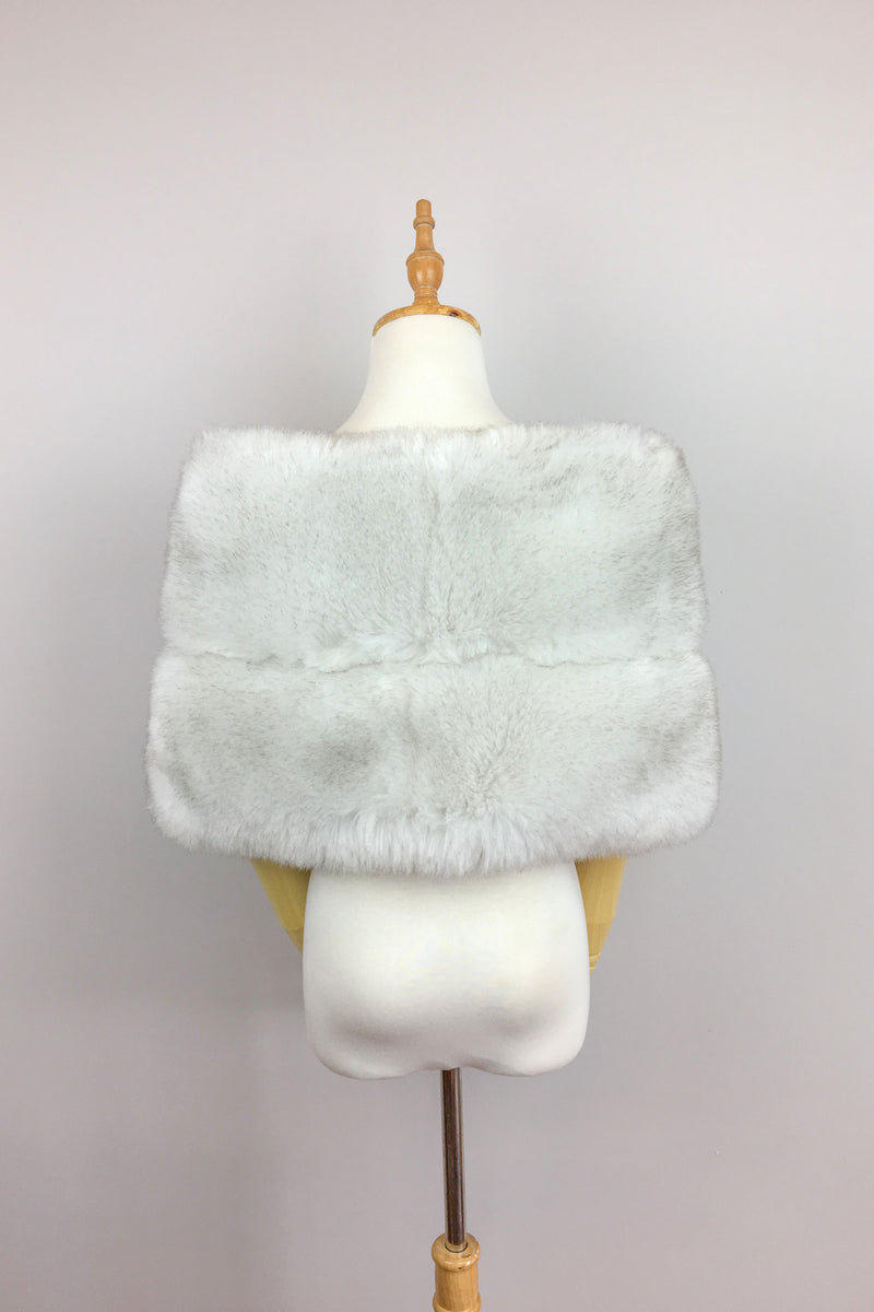 Light Gray / Silver Fur Wrap (Penelope LGry01)