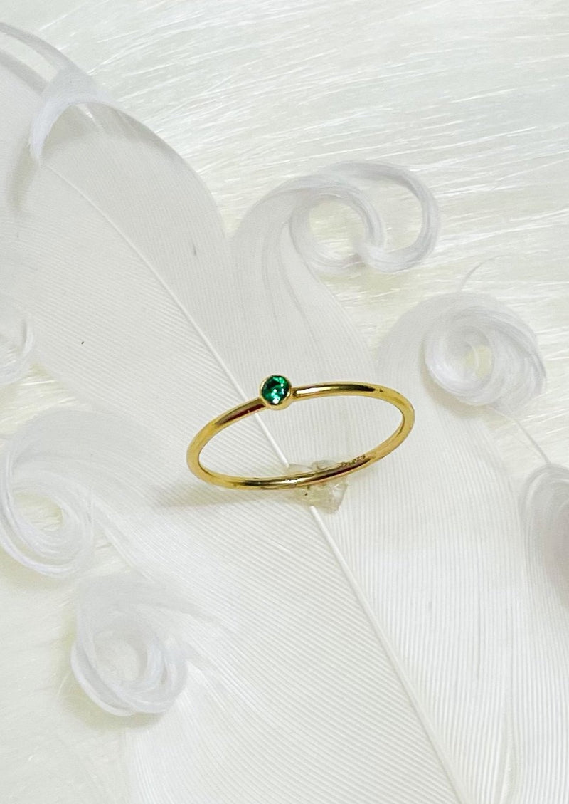 CHOLE | EMERALD GOLD RING