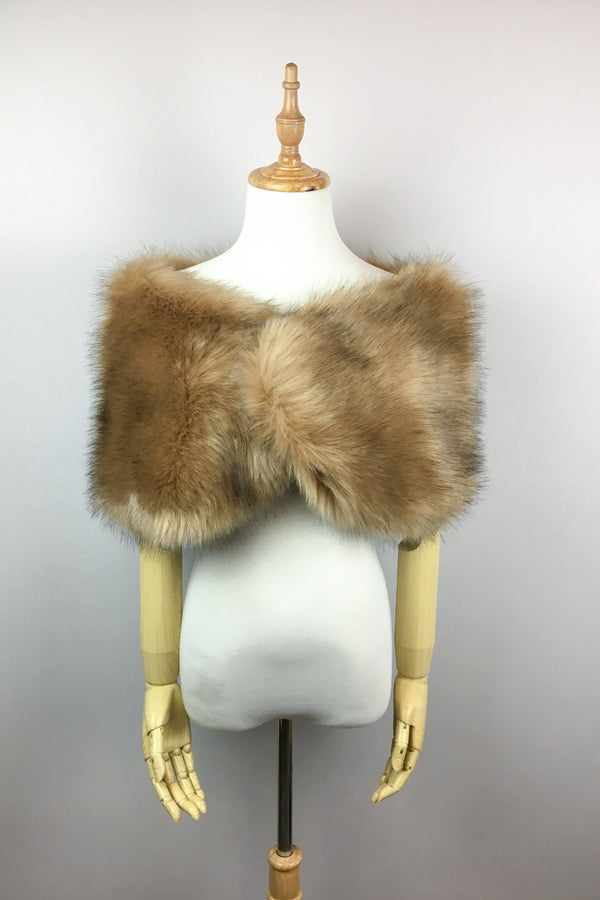 Honey Brown Fur Wrap (Serena LBrw03)