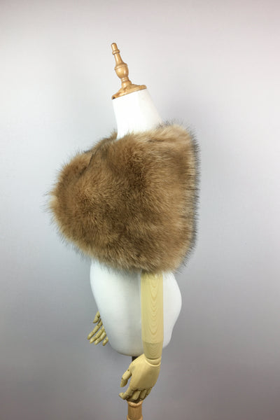 Brown Faux fur bridal wrap shawl stole cape (Serena Brw04)