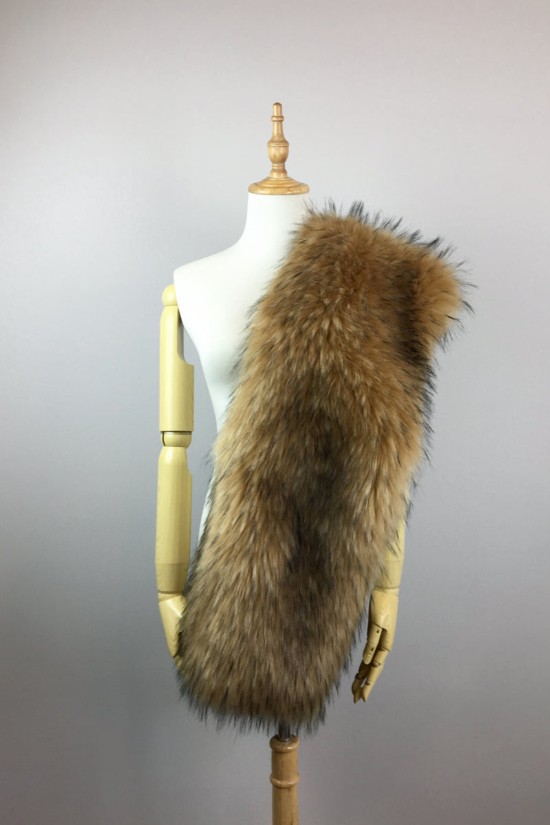 Brown Fur Shawl (Lilian Brw02)