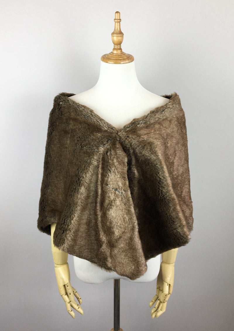 Brown Fur Shawl (Butterfly Brw06)