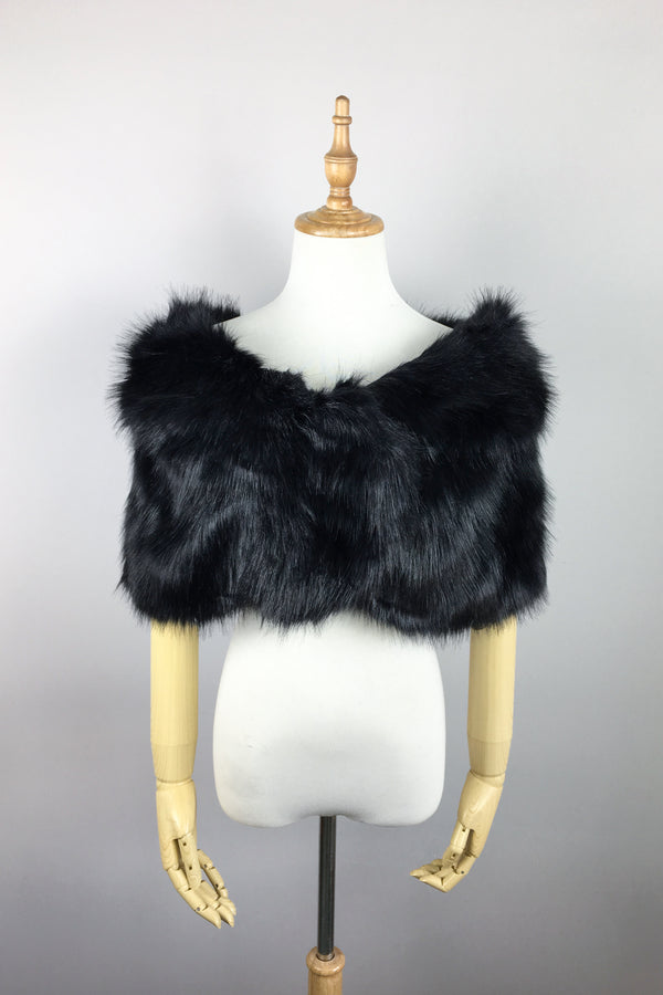 Black Fur Wrap (Blair Blk03)