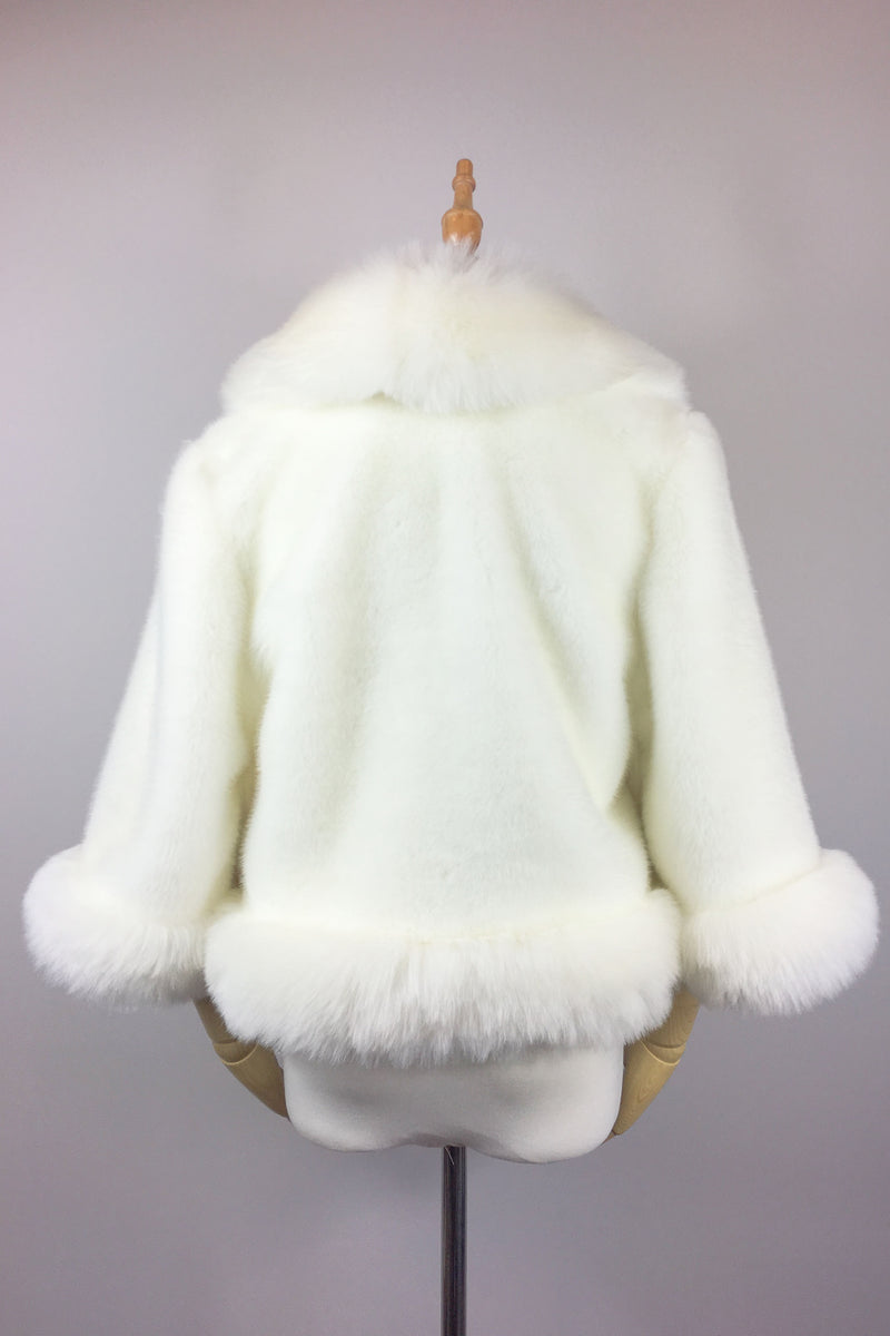 Ivory White Fur Jacket (Chole Wht01)