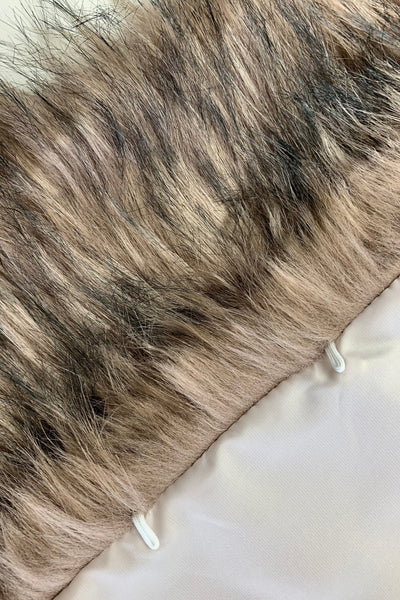 Brown faux fur bridal wrap, Wedding Fur shrug, Fur Wrap (Lilian Brw02)