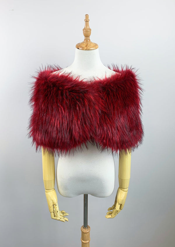 Red Fur Wrap (Serena Red02)