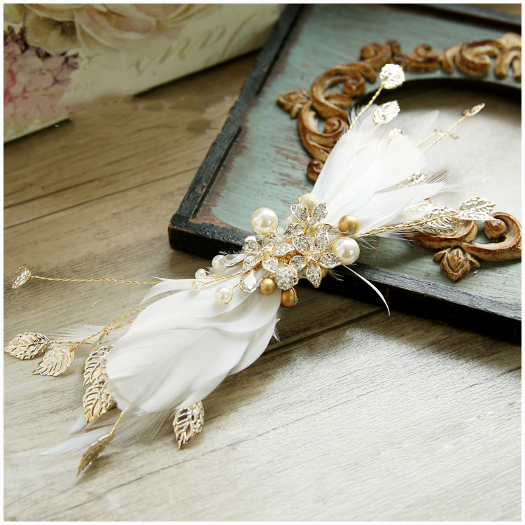 Bridal Feather Hair Clip