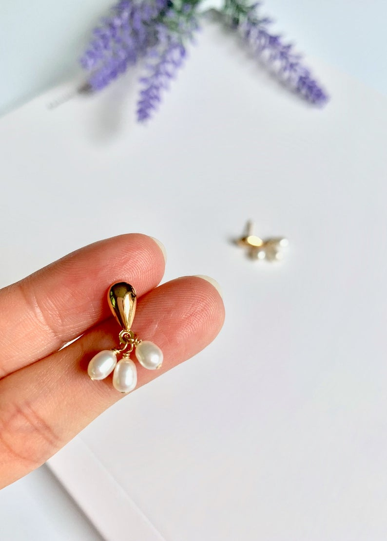 Tiny Pearl Classic Drop Earrings